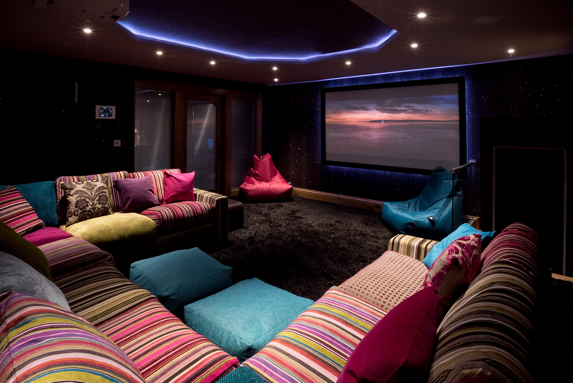 Cinema at Waternook, Howtown. Overlooking Ullswater in the Lake District, UK. Copyright Ben Barden Photography Ltd. 2015