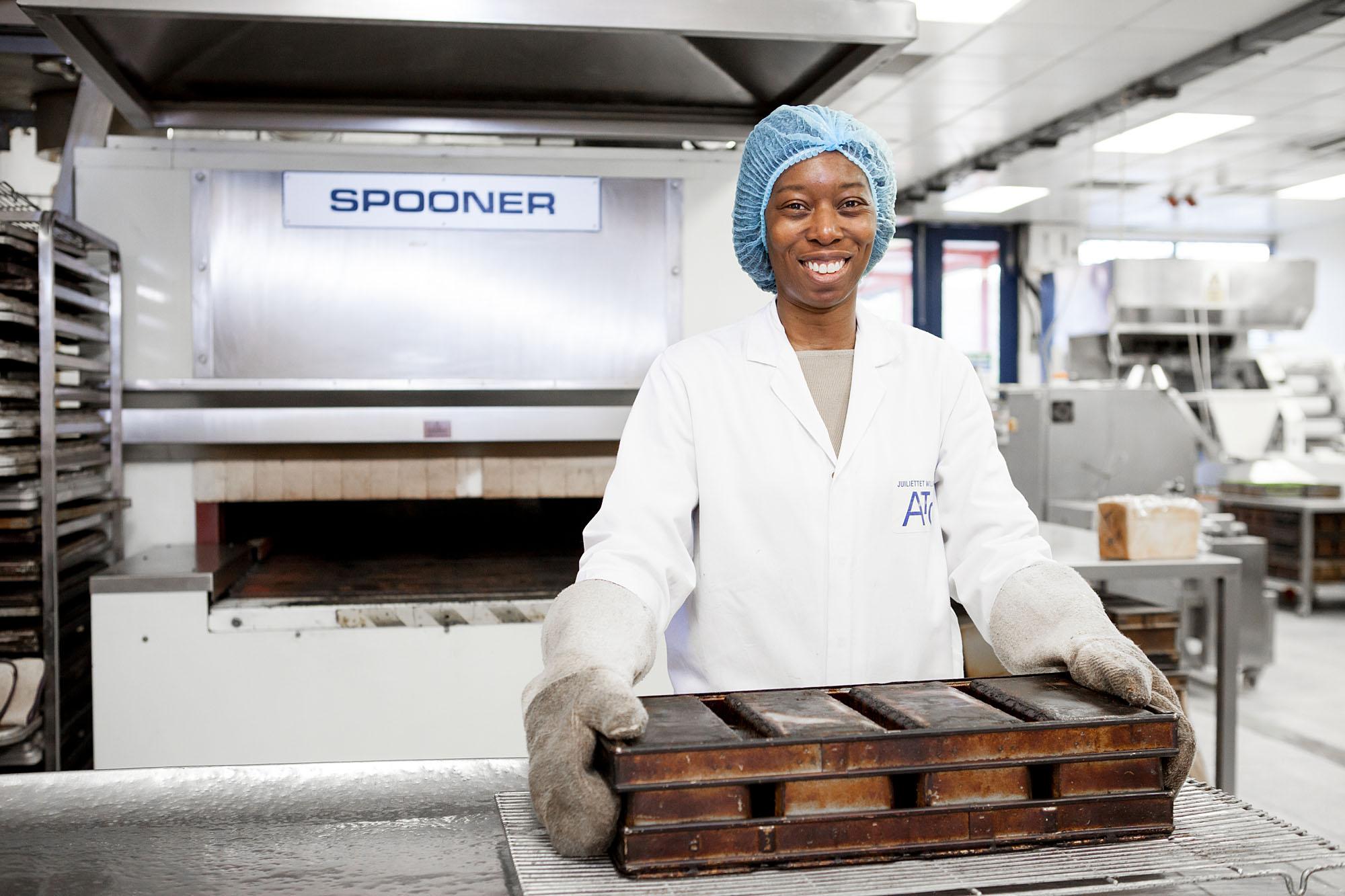 Baker in a kitchen lab - Kingsmill/Allied Bakeries