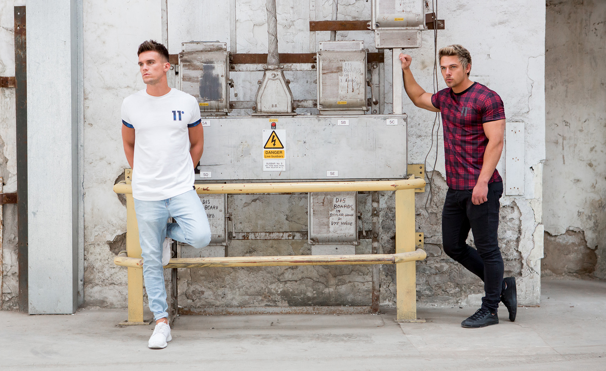 11 Degrees Clothing, Gary Beadle (@GazGShore) of Geordie Shore and Joss Mooney (@joss_mooney) of Ex on the Beach