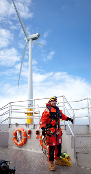 Offshore Climber - Ormonde Wind Farm, Irish Sea